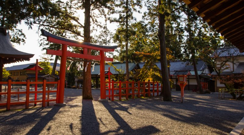 Le sanctuaire Yoshida-jinja
