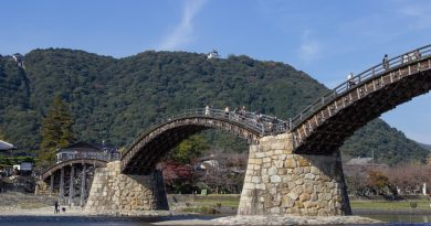 Kintai-kyo : le pont aux cinq arches d'Iwakuni
