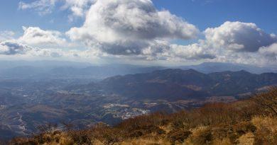 Le mont Tsurumi