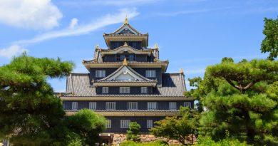 Le château d'Okayama, le château du corbeau
